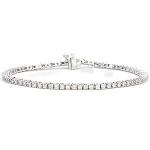 3392 - Diamond Bracelet 2.00 Carat, Set With Round Brilliant Diamonds