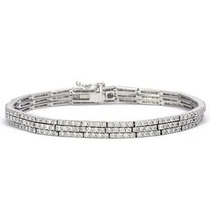 3397 - Diamond Bracelet 3.85 Carat, Set With Round Brilliant Diamonds