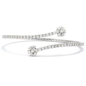 3467 - Bangle 2 1/2 Carat, Set With Round Brilliant Diamonds