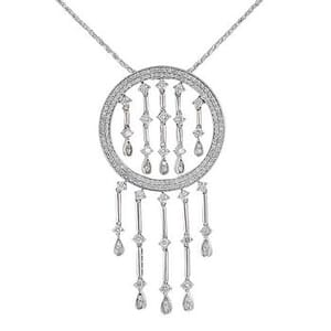 3502 - Diamond Pendant 2.00 Carat, Set With Round Brilliant Diamonds