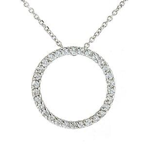 3592 - Circle Of Life / Circle Of Love Diamond Pendant 1/2 Carat, Set With Round Brilliant Diamonds