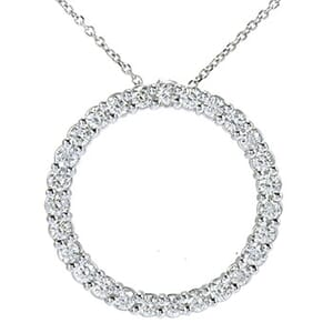 3597 - Circle Of Life / Circle Of Love Diamond Pendant 0.9 Carat, Set With Round Brilliant Diamonds