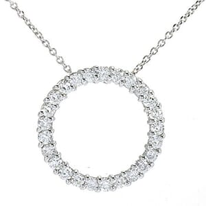 3602 - Circle Of Life / Circle Of Love Diamond Pendant 1 1/4 Carat, Set With Round Brilliant Diamonds