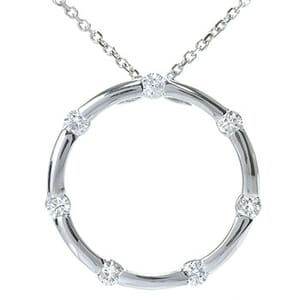 3607 - Circle Of Life / Circle Of Love Diamond Pendant 0.8 Carat, Set With Round Brilliant Diamonds