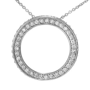 3612 - Circle Of Life / Circle Of Love Diamond Pendant 1.35 Carat, Set With Round Brilliant Diamonds