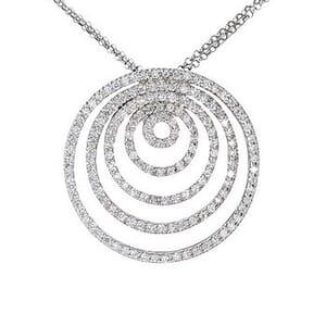 3617 - Diamond Pendant 2.00 Carat, Set With Round Brilliant Diamonds