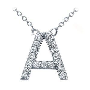 3687 -  Pavé Diamond Letter A Pendant