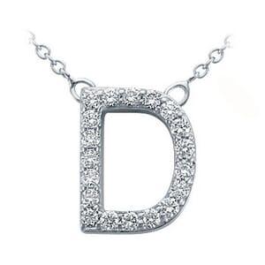 3702 -  Pavé Diamond Letter D Pendant
