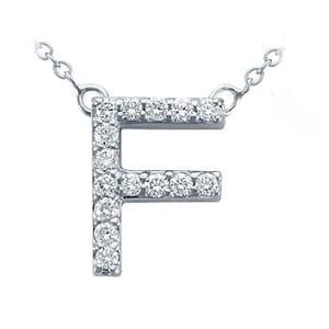 3712 -  Pavé Diamond Letter F Pendant