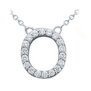 3757 -  Pavé Diamond Letter O Pendant