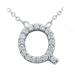 3787 -  Pavé Diamond Letter Q Pendant