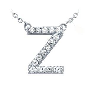 3832 -  Pavé Diamond Letter Z Pendant