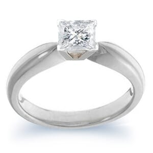 3907 -  Engagement Ring Set With Princess Cut Diamond (1/2 Ct. Tw.)