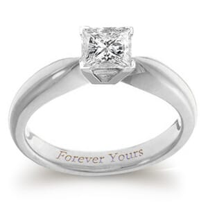 3912 -  Engagement Ring Set With Princess Cut Diamond (3/4 Ct. Tw.)