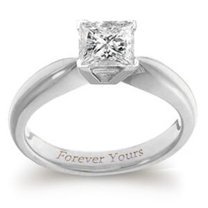 3917 -  Engagement Ring Set With Princess Cut Diamond (1 Ct. Tw.)