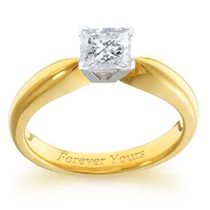 3923 -  Engagement Ring Set With Princess Cut Diamond (1/2 Ct. Tw.)
