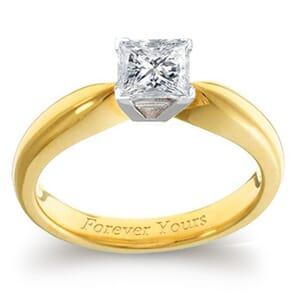 3928 -  Engagement Ring Set With Princess Cut Diamond (3/4 Ct. Tw.)