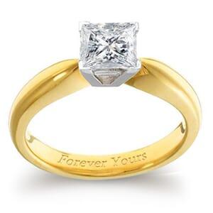 3933 -  Engagement Ring Set With Princess Cut Diamond (1 Ct. Tw.)