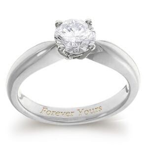 3946 - Solitaire Engagement Ring With A Stunning 0.75 Carat Round Diamond