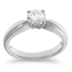 3952 -  Engagement Ring Set With Round Brilliant Cut Diamond (1/2 Ct. Tw.)