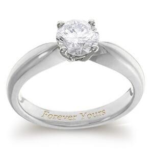 3957 -  Engagement Ring Set With Round Brilliant Cut Diamond (3/4 Ct. Tw.)