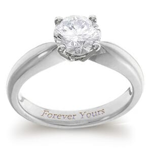 3962 -  Engagement Ring Set With Round Brilliant Cut Diamond (1 Ct. Tw.)