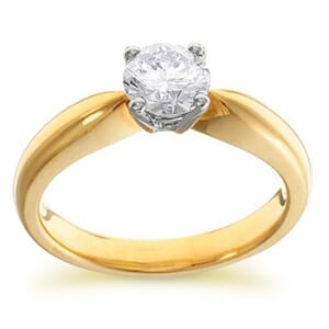 3968 -  Engagement Ring Set With Round Brilliant Cut Diamond (1/2 Ct. Tw.)