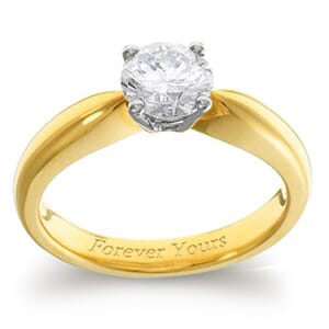 3973 -  Engagement Ring Set With Round Brilliant Cut Diamond (3/4 Ct. Tw.)