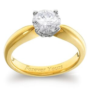 3978 -  Engagement Ring Set With Round Brilliant Cut Diamond (1 Ct. Tw.)