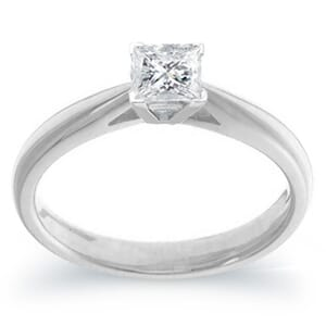3986 -  Engagement Ring Set With Princess Cut Diamond (1/2 Ct. Tw.)