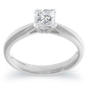 3991 - 0.75 Carat Princess Cut Solitaire Engagement Ring