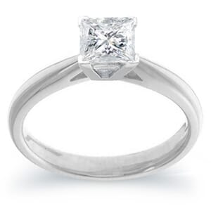4007 -  Engagement Ring Set With Princess Cut Diamond (1 Ct. Tw.)