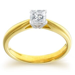 4013 -  Engagement Ring Set With Princess Cut Diamond (1/2 Ct. Tw.)