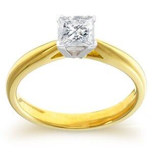 4018 -  Engagement Ring Set With Princess Cut Diamond (3/4 Ct. Tw.)