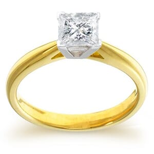 4023 -  Engagement Ring Set With Princess Cut Diamond (1 Ct. Tw.)