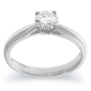 4031 -  Engagement Ring Set With Round Brilliant Cut Diamond (1/2 Ct. Tw.)