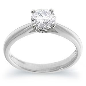 4047 -  Engagement Ring Set With Round Brilliant Cut Diamond (3/4 Ct. Tw.)