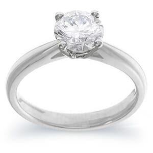 4052 -  Engagement Ring Set With Round Brilliant Cut Diamond (1 Ct. Tw.)