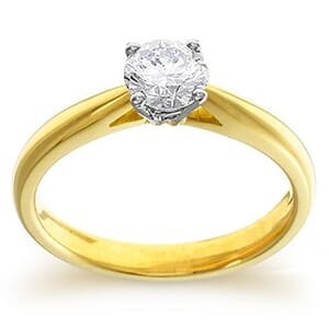 4058 -  Engagement Ring Set With Round Brilliant Cut Diamond (1/2 Ct. Tw.)