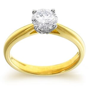 4063 -  Engagement Ring Set With Round Brilliant Cut Diamond (3/4 Ct. Tw.)