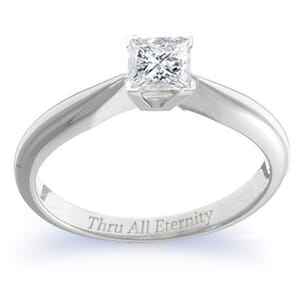 4076 -  Engagement Ring Set With Princess Cut Diamond (1/2 Ct. Tw.)
