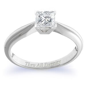 4081 -  Engagement Ring Set With Princess Cut Diamond (3/4 Ct. Tw.)