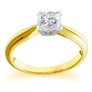 4103 -  Engagement Ring Set With Princess Cut Diamond (1/2 Ct. Tw.)