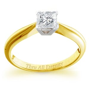4108 -  Engagement Ring Set With Princess Cut Diamond (3/4 Ct. Tw.)