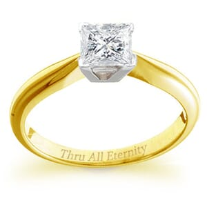 4113 -  Engagement Ring Set With Princess Cut Diamond (1 Ct. Tw.)
