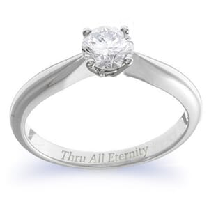 4121 -  Engagement Ring Set With Round Brilliant Cut Diamond (1/2 Ct. Tw.)