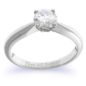 4137 -  Engagement Ring Set With Round Brilliant Cut Diamond (3/4 Ct. Tw.)