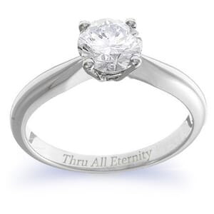 4142 -  Engagement Ring Set With Round Brilliant Cut Diamond (1 Ct. Tw.)