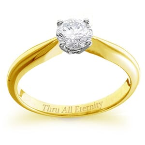 4153 -  Engagement Ring Set With Round Brilliant Cut Diamond (3/4 Ct. Tw.)