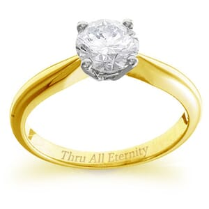 4158 -  Engagement Ring Set With Round Brilliant Cut Diamond (1 Ct. Tw.)